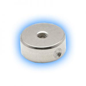 Interchangeable disc for titanium ball closure rings