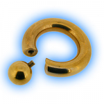 Gold Plated Steel - Screw On Ball BCR
