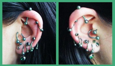 Green Titanium Body Jewellery