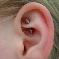 Curved Barbell Rook Piercing