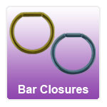 Bar Closure Rings - flat side piercing rings