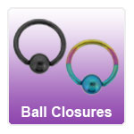 Ball Closure Rings - BCR rings, bead closure rings