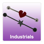 Scaffold barbells, Long barbells for industrial piercings