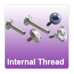 Titanium and Steel Internally threaded Piercing Jewelry