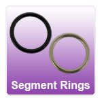 Smooth seamless segment rings with a section that can be removed for ease of fitting
