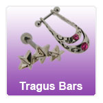 Upper ear piercing jewellery - jewellery for tragus and daith piercings, tragus bars