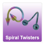 Spiral Twister rings for an unusual look or wonky piercing
