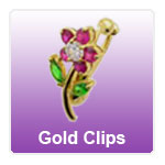 Gold Fake Belly Clips