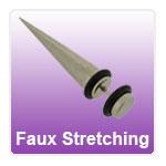 Fake Ear Stretching Plugs
