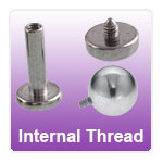 Internally Threaded Jewellery