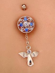 Modelled angel dangling charm with Hope Screw