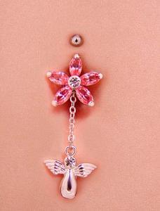 6 Stone Flower Screwbidoo Screw modelled - charm