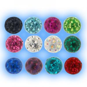 Resin Coated Glitter Ball Colours