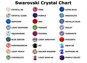 Swarovski colour chart for Bioplast Belly Bar