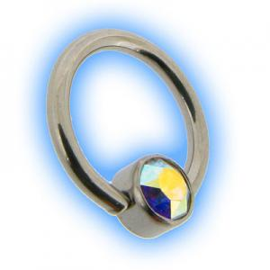 Steel Flat Back Ball Closure Ring BCR - AB