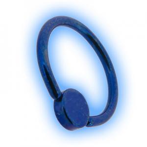 Titanium Flat Back BCR With Disc - Blue