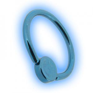 Titanium Flat Back BCR With Disc - Ice Blue