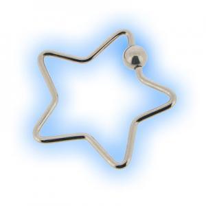 Steel Star BCR Ring