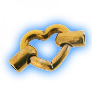 Gold Plated Heart Jointing Piece