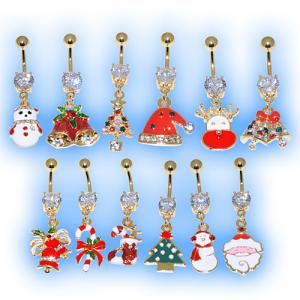 Gold Plated Christmas Belly Bar