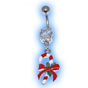Candy Cane Christmas Belly Bar