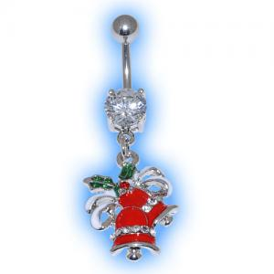 Holly Bells Christmas Belly Bar