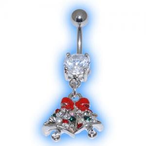 Jewelled Bells Christmas Belly Bar