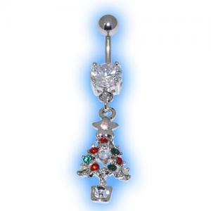 Jewelled Christmas Tree Christmas Belly Bar
