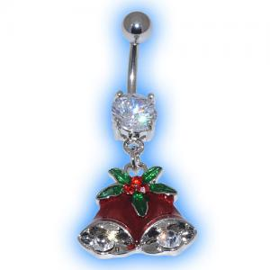 Red Bells Christmas Belly Bar