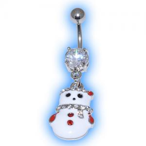 Tinsel Snowman Christmas Belly Bar