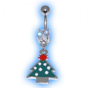 Green Tree Christmas Belly Bar