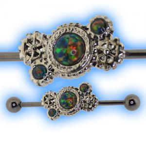 Steam Punk Jewellery - Black Opal