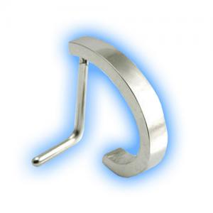 L Shaped Nose Stud - Plain steel