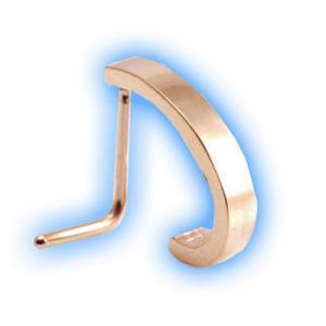 Rose Gold PVD L Shaped Nose Stud - Plain steel