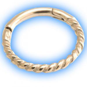 Rose Gold Rope Hinged Segment Ring