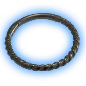 Black PVD Rope Hinged Segment Ring