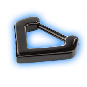 Black PVD Triangle Septum Clicker