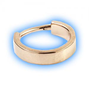 Rose Gold PVD Hinged Flat Conch Ring