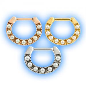 Pearl septum ring