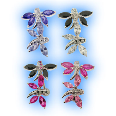 wholesale online get new drop shipping Elegance Reverse Belly Bar - Dragonfly Duo