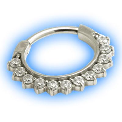 Small Gem Circles Hinged Septum Ring