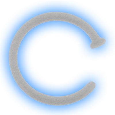 Clear 0.8 x 9mm Bioflex Open Nose Ring