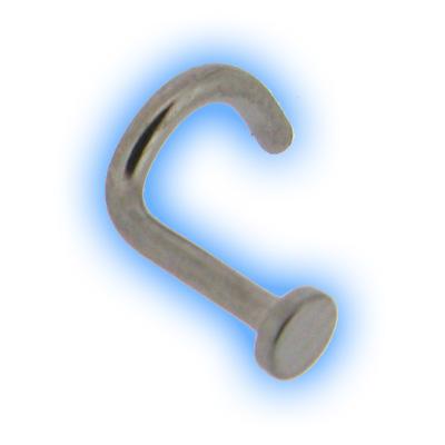 Titanium Flat Disc Bent Nose Stud Nose Piercing Jewellery
