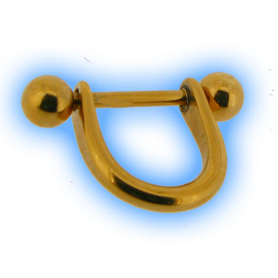 Gold Plated Nipple Bar