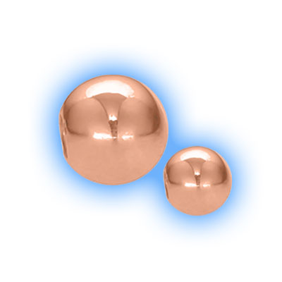 Rose Gold Plated Screw On Ball - 1.2mm (16g)