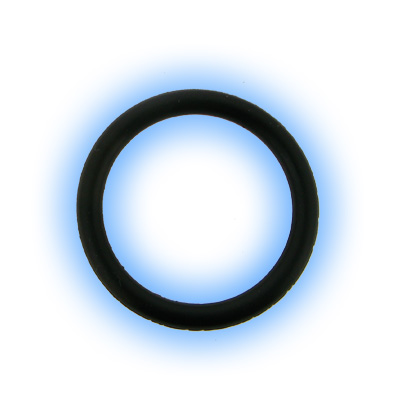 Replacement Black Rubber Silicone O Ring as used on ear stretching ...