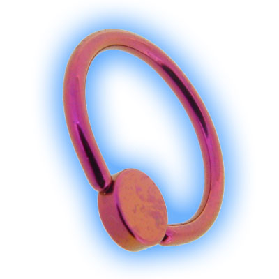 Titanium Flat Back BCR With Disc - Pink