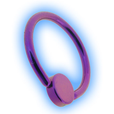 Titanium Flat Back BCR With Disc - Purple