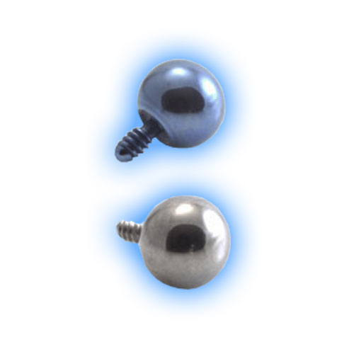 Titanium Internally Threaded Ball - 1.6mm (14 gauge)