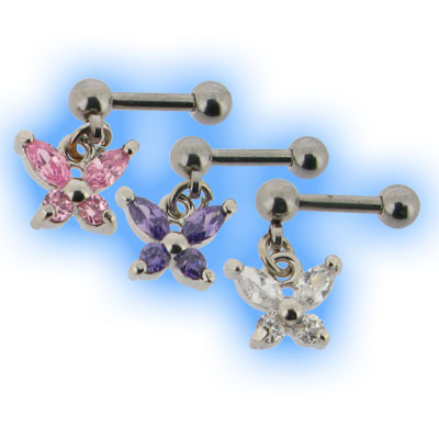 Butterfly Tragus Stud